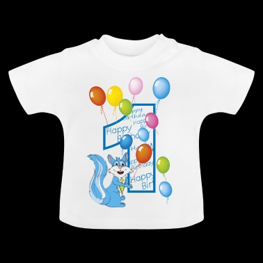 first squirrel number 1 birthday - Baby T-Shirt