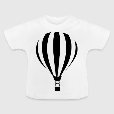 Heißluftballon Illustration - Baby T-Shirt