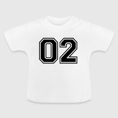 02 - College Style Sportswear and Numbers Motif - Baby T-Shirt