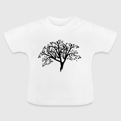 träd Illustration - Baby-T-shirt