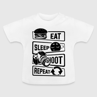 Eat Sleep Spara Repeat - fotocamera photography Foto - Maglietta per neonato