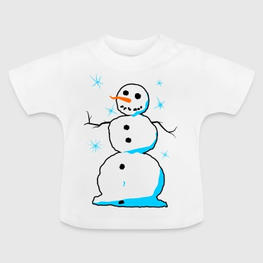 Sweet snowman with carrots nose coals mouth - Baby T-Shirt