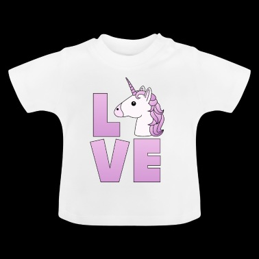 Love Logo Unicorn Unicorn in lilac - Baby T-Shirt