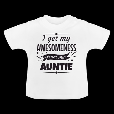 Awesomeness faster faster gudmor gåva - Baby-T-shirt