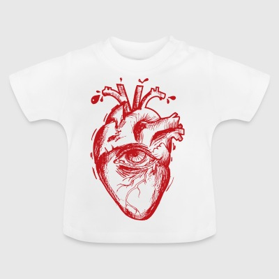 Heart with eyes - Baby T-Shirt
