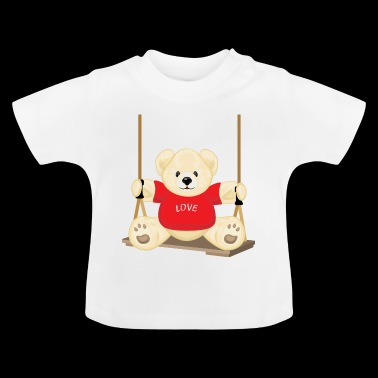 Teddy bear on the swing - Camiseta bebé