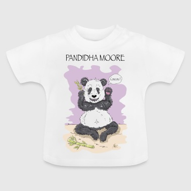 Panda Pandidha Moore lilac background - Baby T-Shirt
