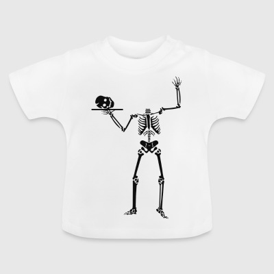Skelett Kellnerin - Baby T-Shirt