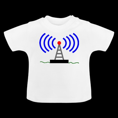 Radio radio tower waves communication - Baby T-Shirt