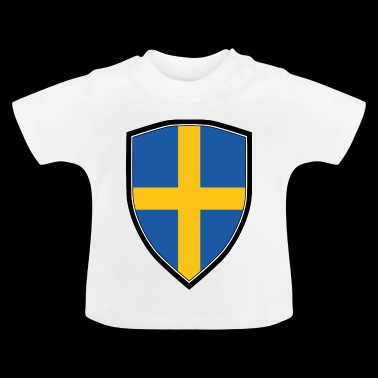 SWEDEN FLAG SHIELD - Baby T-Shirt