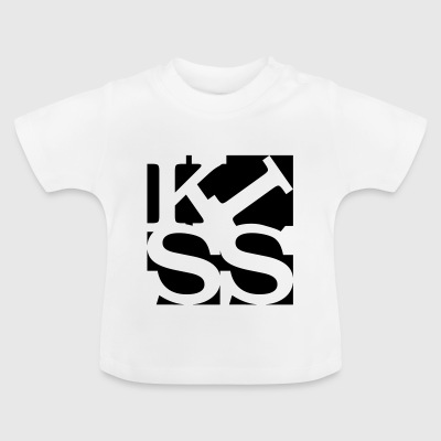 kiss homage to Robert Indiana black outside - Baby T-Shirt