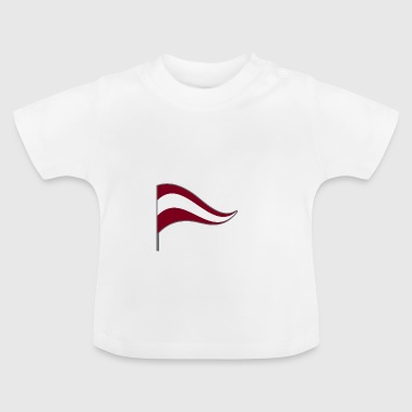 Latvia Riga flag national color flag home country - Baby T-Shirt