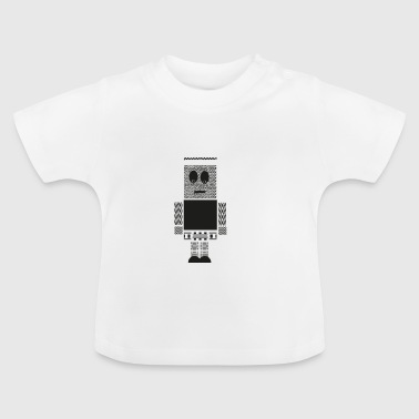 Funny monster figure from pattern - Baby T-Shirt
