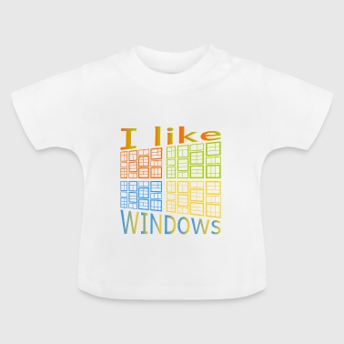 J'aime de Windows - T-shirt Bébé