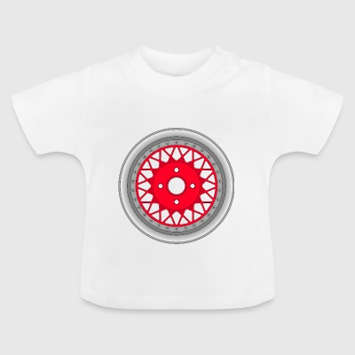 old_wheel_red_2 - Baby-T-skjorte