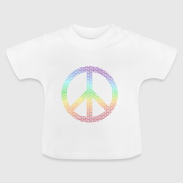 Peace Sign Peace Demo Flower Power Letter - Baby T-Shirt