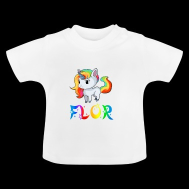 Unicorn Flor - Baby-T-shirt