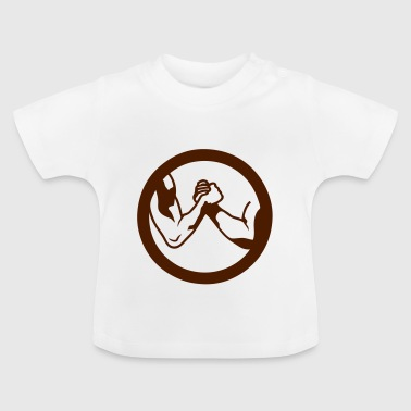 arm wrestling arm iron logo16 - Baby T-Shirt