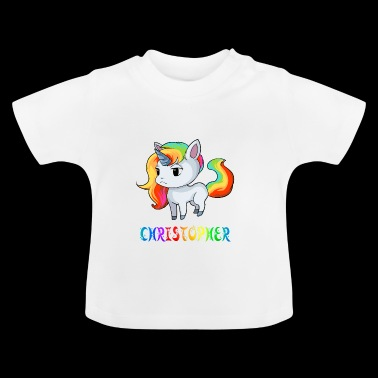 Christopher unicorn - Baby T-Shirt