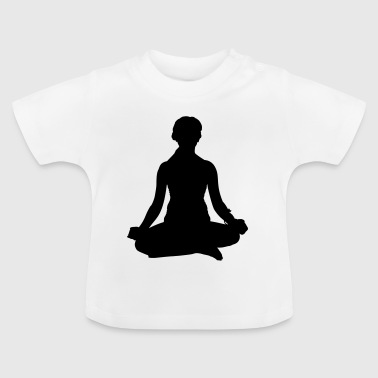 Yoga Meditieren Frau - Baby T-Shirt