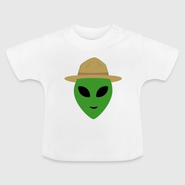 Alien with Park Ranger Hat - Baby T-Shirt
