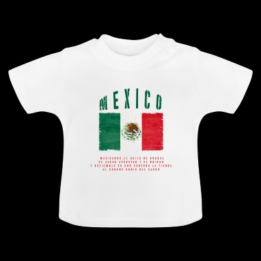 Mexican Flag Bandera Mexico - Baby T-Shirt