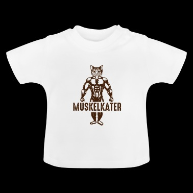 MUSCLE CAT Cat with muscles - Baby T-Shirt