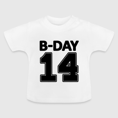 14 number fourteen / birthday number number jersey - Baby T-Shirt
