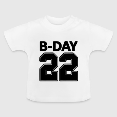 22nd birthday bday 22 number numbers jersey number - Baby T-Shirt