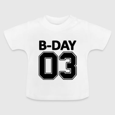 3rd Birthday Bday 03 number numbers number jersey - Baby T-Shirt