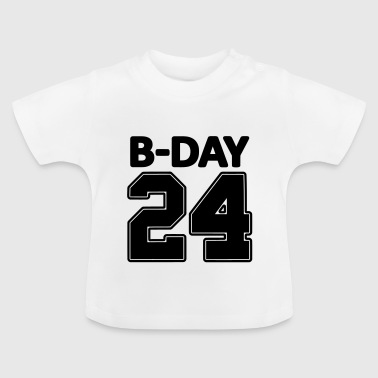 24 number number for the 24th birthday football jersey - Baby T-Shirt