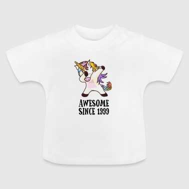 Awesome Since 1999 Dabbing Unicorn 18GB Gift - Baby T-Shirt