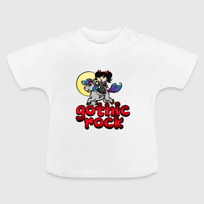 Gotisk rockmusik Unicorn Pony Rainbow Pink Fan - Baby T-shirt