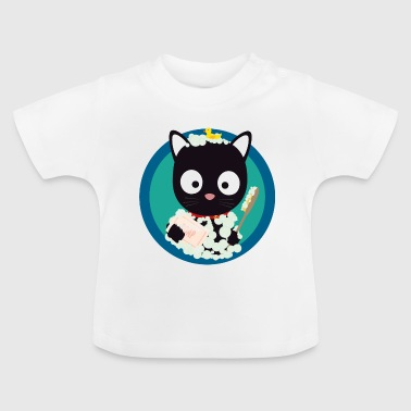Cat bathing with the bath foam - Baby T-Shirt