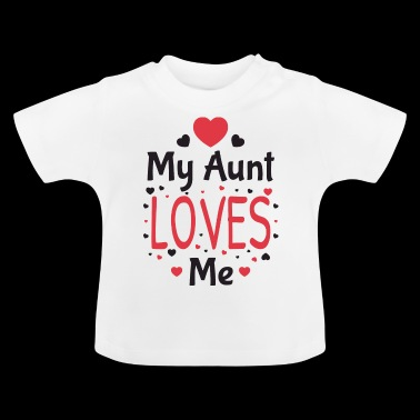 My aunt loves me godmother baby gift - Baby T-Shirt