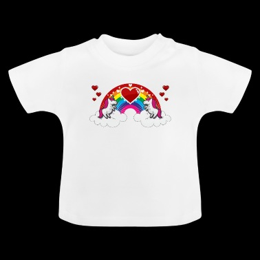 Rainbow and Unicorn - Baby T-Shirt