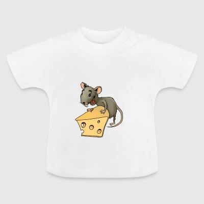 Fiese Maus Nager Maus Ungeziefer Nagetier Käse - Baby T-Shirt