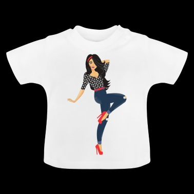 Pinup Girl - Baby T-Shirt