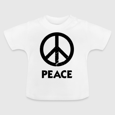 Peace Sign Peace Demo Grunge Flower Power - Baby T-Shirt