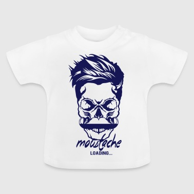 head hipster quote mustache loading program - Baby T-Shirt