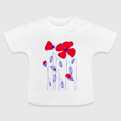 valmue blomster - Baby T-shirt