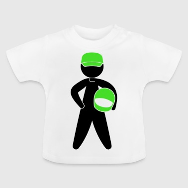 A Racer With Helmet - Baby T-Shirt