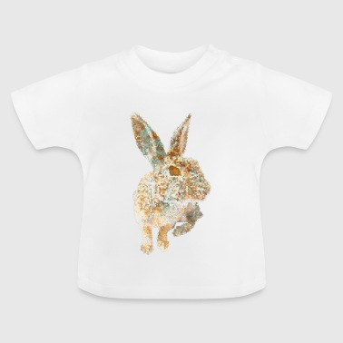 RABBIT MOSAIC gold copper - Baby T-Shirt