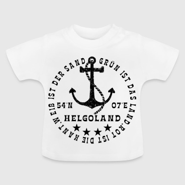 HelgolandLogo_Anker_black_hollow - T-shirt Bébé