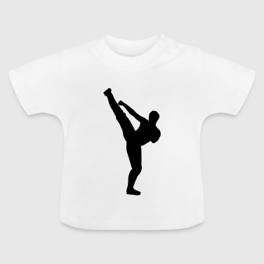 Martial Arts Silhouette - Baby-T-shirt