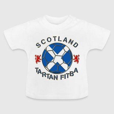 tartan football scotland saltire - Baby T-Shirt