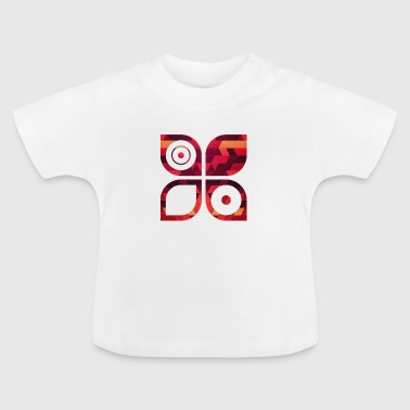 Abstract minimal geometry Hipster Art (Red Gold) - Baby T-Shirt