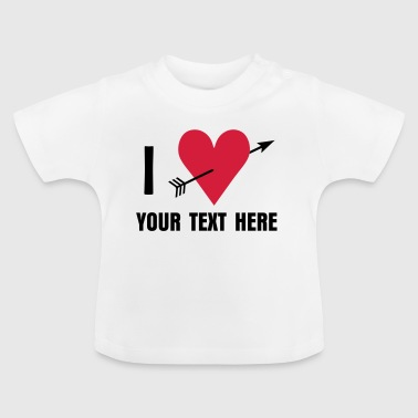 Daddy I ♥ / I love - Baby T-shirt