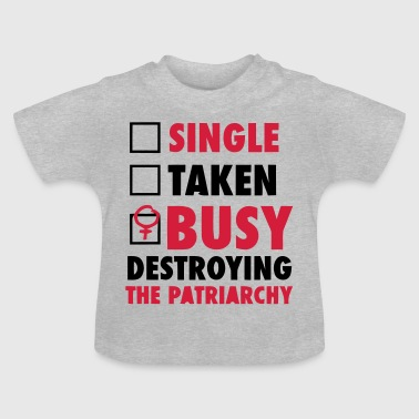 SINGLE / FORGIVENESS / DESTROYED THE FEMINISTS - T-shirt Bébé