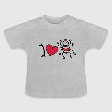 I love spiders - Camiseta bebé